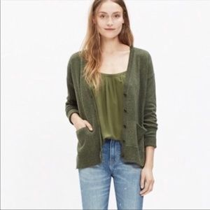 Madewell Landscape Army Green Button Down Cardigan